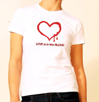 Love is in the Blood Womens T-shirt