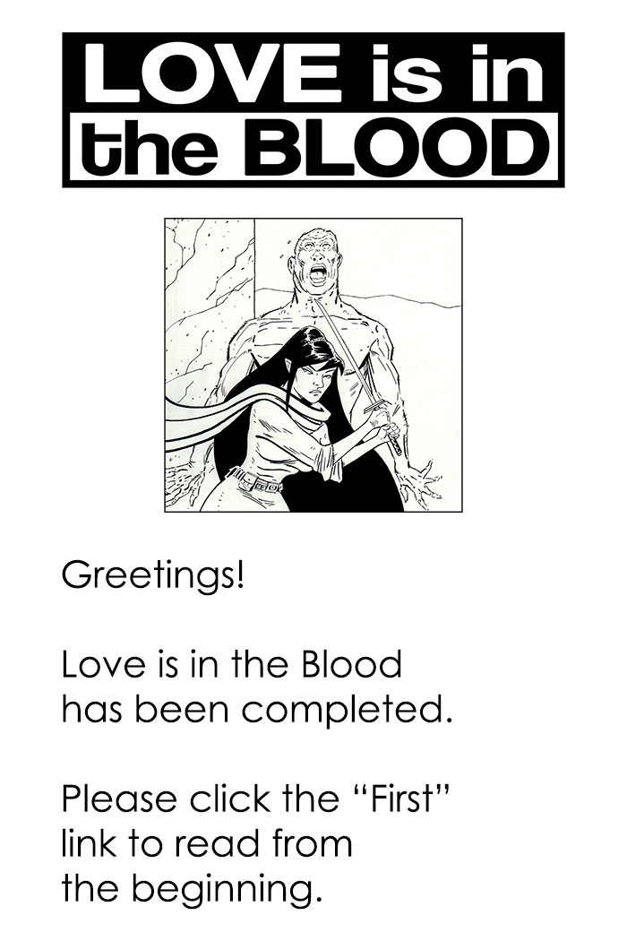 LOVE IS IN THE BLOOD is complete.